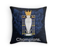 Leicester City Champions of England Throw Pillow
