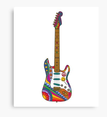 Psychedelic Guitar Canvas Print