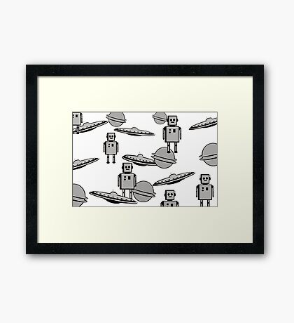 Space Age laptop  Framed Print