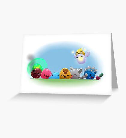 Slime Rancher (basic slimes) Greeting Card