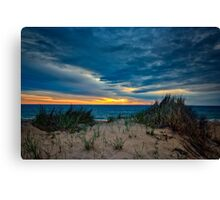 Cloudy Sunrise on Cape Cod Canvas Print