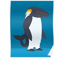 Humpback Whale - Emperor Penguin Poster