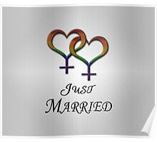 Just Married Lesbian Pride Poster