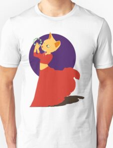 Belly Dancing Cat with Tambourine Unisex T-Shirt