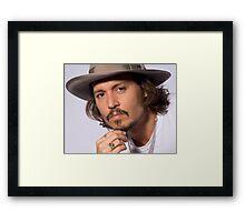 Cool Johnny Depp 2 Framed Print