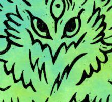 Eagle Linocut (Green) Sticker