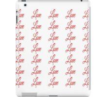 """Love"" - red pattern iPad Case/Skin"