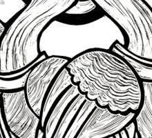 Swan Duo Linocut Sticker