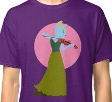 Cat Violin Under a Sakura Moon Classic T-Shirt