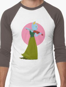 Cat Violin Under a Sakura Moon Men's Baseball ¾ T-Shirt