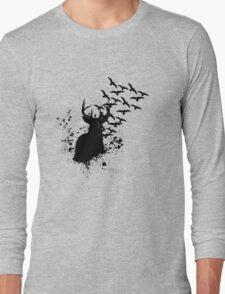 Splatter Birds and Deer  Long Sleeve T-Shirt