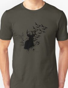 Splatter Birds and Deer  T-Shirt