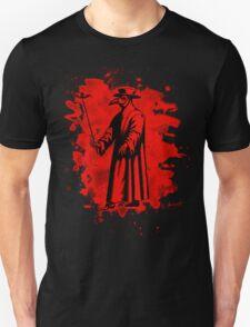 Doc beak - Plague doctor - bleached red T-Shirt