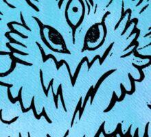 Eagle Linocut (Blue) Sticker