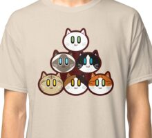 Six Cat Breeds Pyramid Classic T-Shirt