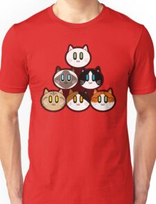 Six Cat Breeds Pyramid Unisex T-Shirt