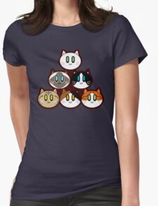 Six Cat Breeds Pyramid Womens Fitted T-Shirt