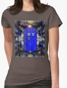 TARDIS CLASSIC LONDON POLICE BOX 1 Womens Fitted T-Shirt