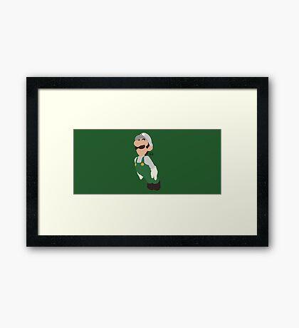 Luigi (Fire) - Super Smash Bros. Framed Print