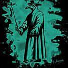 Doc beak - Plague doctor - bleached green by Bela-Manson