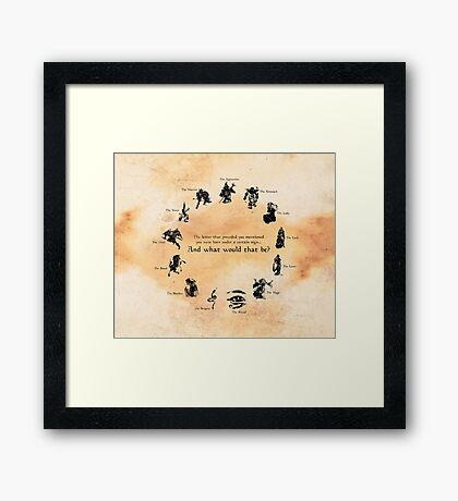 ES: Birth-signs Wheel Framed Print