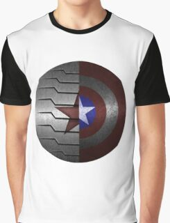 Steve and Bucky Shield Graphic T-Shirt