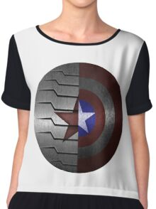 Steve and Bucky Shield Chiffon Top