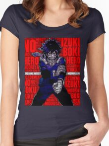 Izuku Midoriya - Boku no Hero Academia | My Hero Academia Women's Fitted Scoop T-Shirt