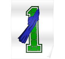 Turtle Shell Jersey Number - 1 Poster