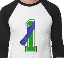Turtle Shell Jersey Number - 1 Men's Baseball ¾ T-Shirt