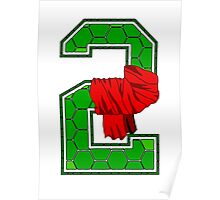 Turtle Shell Jersey Number - 2 Poster