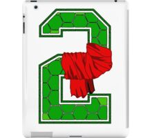 Turtle Shell Jersey Number - 2 iPad Case/Skin