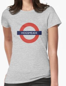 Hogsmeade Underground Sign- Harry Potter Womens Fitted T-Shirt