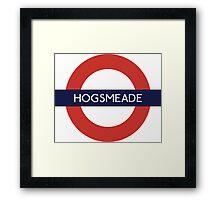 Hogsmeade Underground Sign- Harry Potter Framed Print
