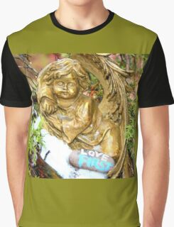 golden angel in tree Graphic T-Shirt