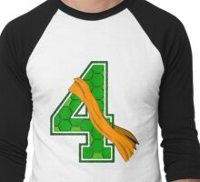 Turtle Shell Jersey Number - 4 Men's Baseball ¾ T-Shirt