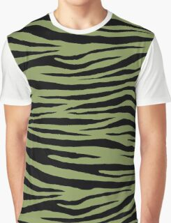 0440 Moss Green or Turtle Green Tiger Graphic T-Shirt