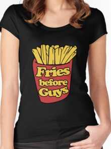 Fries Before Guys Women's Fitted Scoop T-Shirt