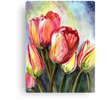Tulips Pink Canvas Print