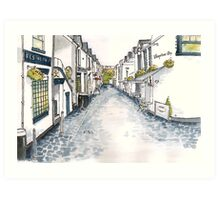Ashton Lane, Glasgow Art Print