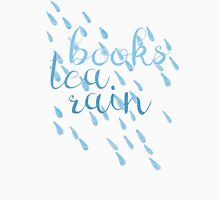 Books, Tea, Rain -- the Perfect Day Womens Fitted T-Shirt