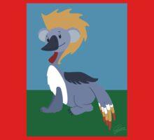 Black Crowned Crane - Koala Kids Tee