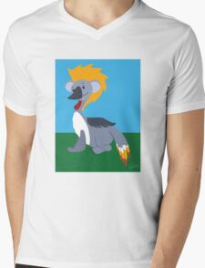 Black Crowned Crane - Koala Mens V-Neck T-Shirt