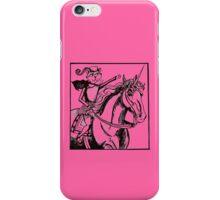 renaissance cat rides a unicorn iPhone Case/Skin
