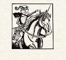 renaissance cat rides a unicorn Hoodie