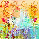 Pastel Flourishes Abstract by Darlene Lankford Honeycutt