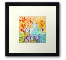 Pastel Flourishes Abstract Framed Print