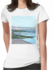 Fabulous abstract ocean view of the Pacific Ocean Womens Fitted T-Shirt