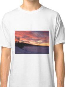 Wintry Sunset Classic T-Shirt