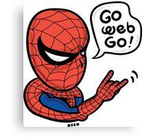 Go Web Go! Canvas Print